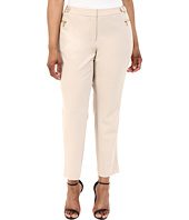 Calvin Klein Plus - Plus Size Straight Pants w/ Buckle & Zip
