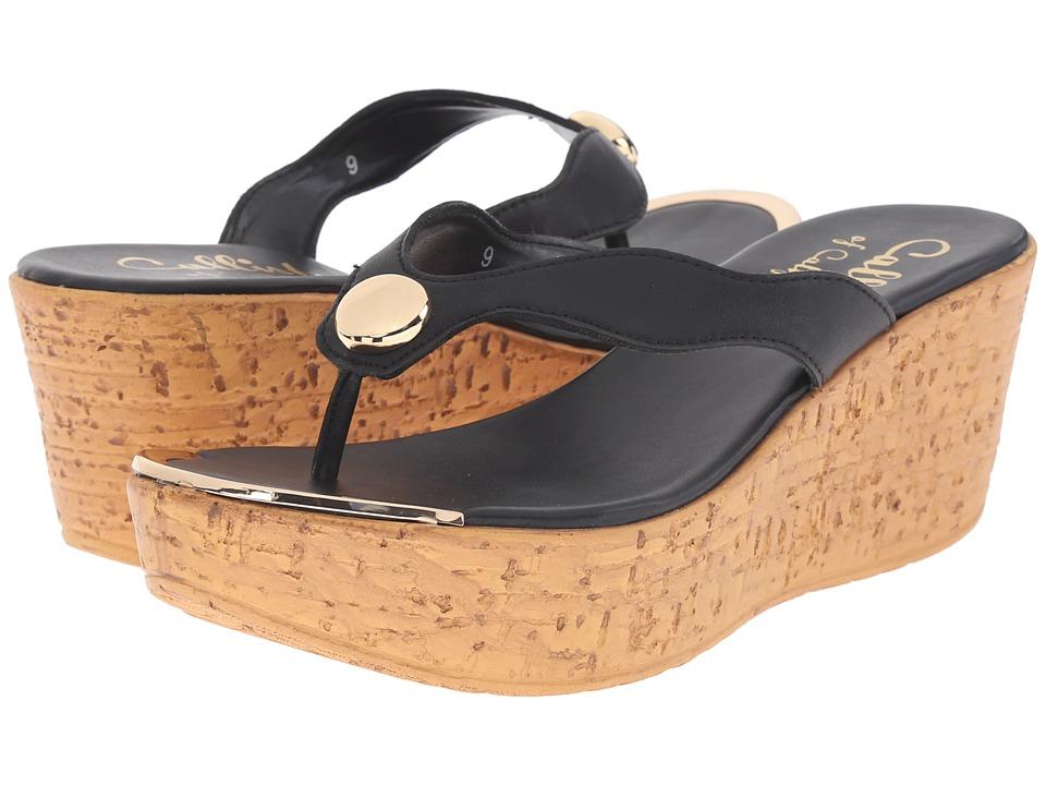 Callisto of California Button Black Womens Shoes