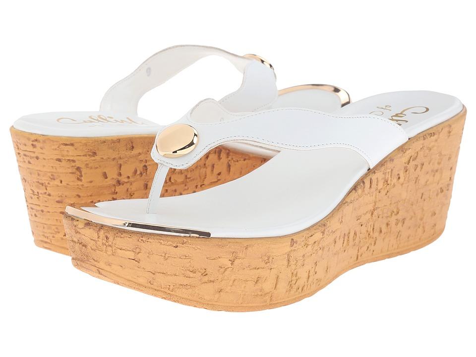 Callisto of California Button White Womens Shoes