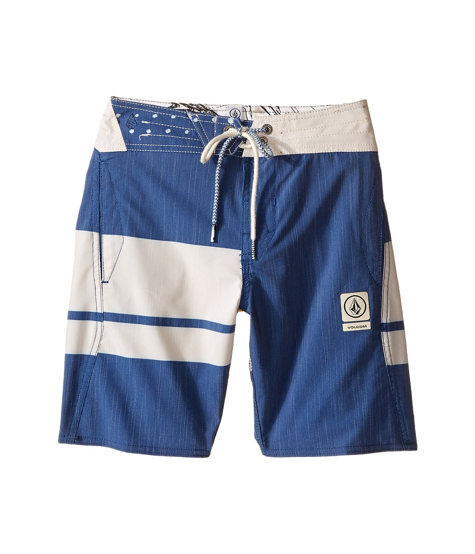 Volcom Kids 3 Quarta Slinger Boardshorts Big Kids Camper Blue Boys Swimwear