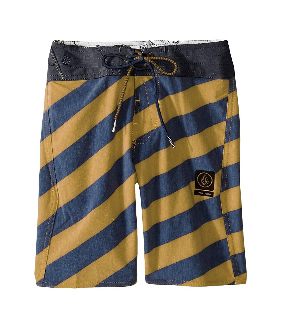 Volcom Kids Stripey Slinger Boardshorts Big Kids Golden Mustard Boys Swimwear