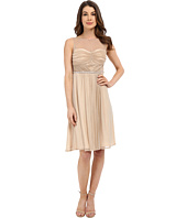 Sangria - Metallic Illusion Sweetheart Neck Fit & Flare Dress