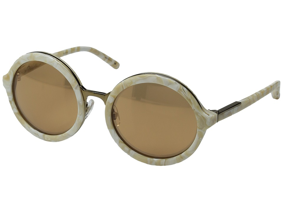 Image of 3.1 Phillip Lim - PL11C30SUN (Cream Pearl/Bronze Mirror) Fashion Sunglasses