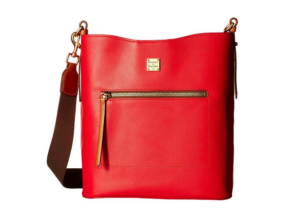Dooney amp Bourke Raleigh Large Roxy Bag Geranium/Natural Trim Bags