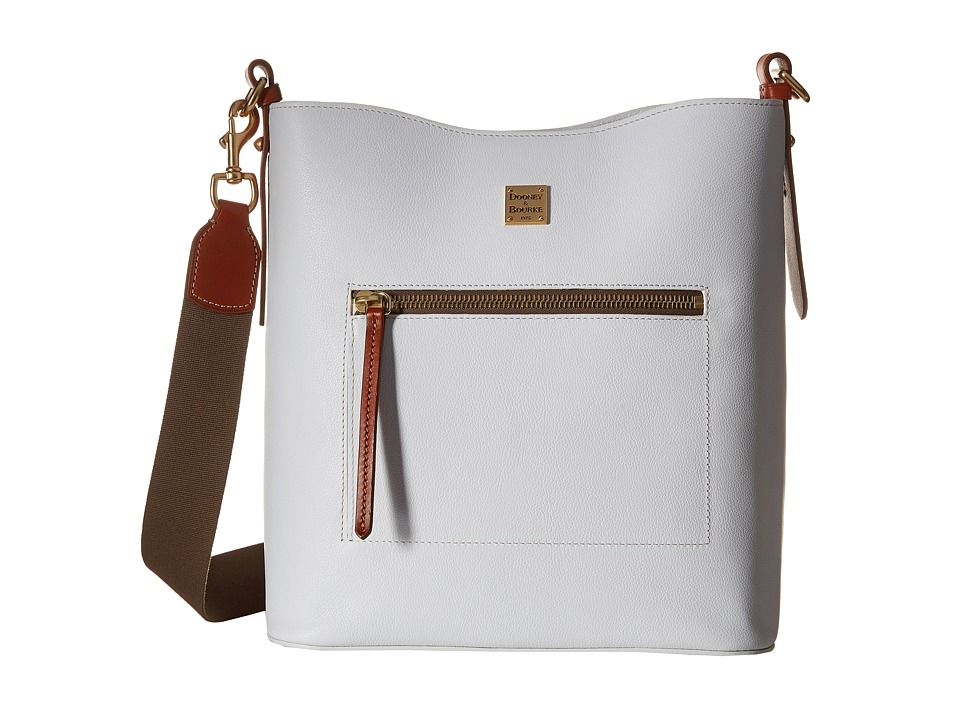 Dooney amp Bourke Raleigh Large Roxy Bag White/Natural Trim Bags