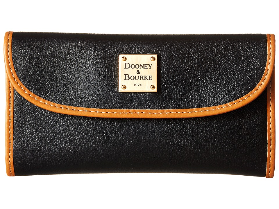 Dooney & Bourke Raleigh Continental Clutch (Black/Natural Trim) Clutch Handbags