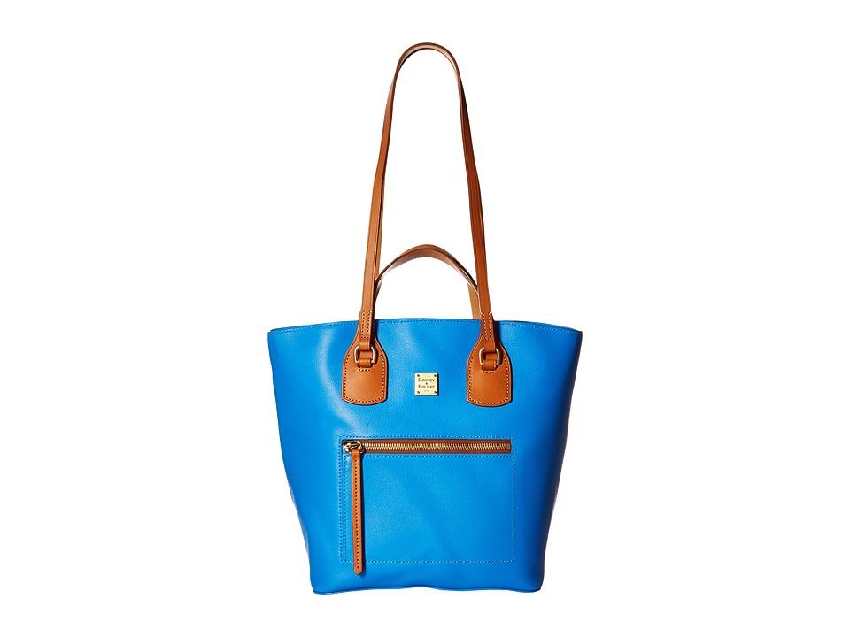 Dooney amp Bourke Raleigh Tara Shopper Ocean/Natural Trim Handbags