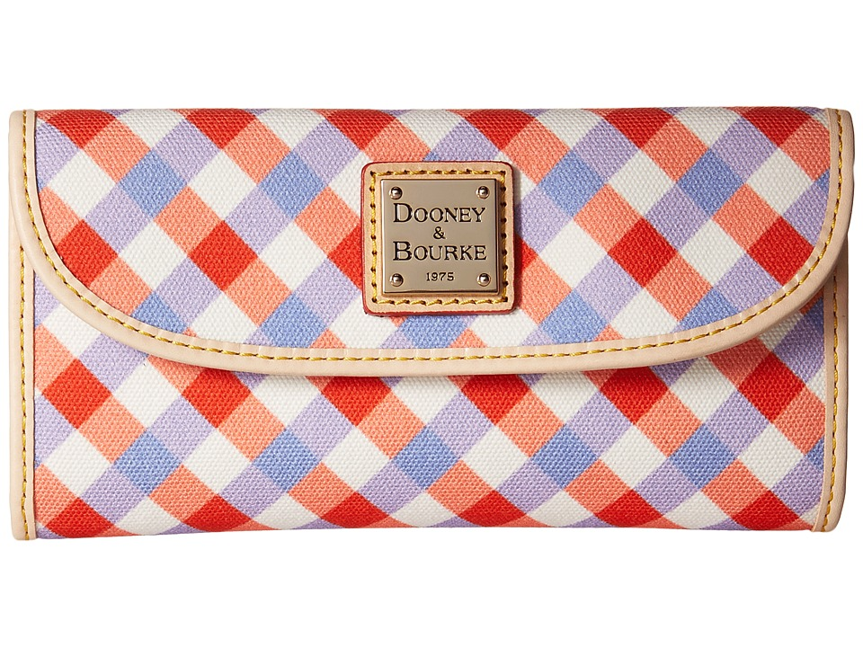 Dooney & Bourke - Elsie Continental Clutch (Geranium/Lavender/Natural Trim) Clutch Handbags