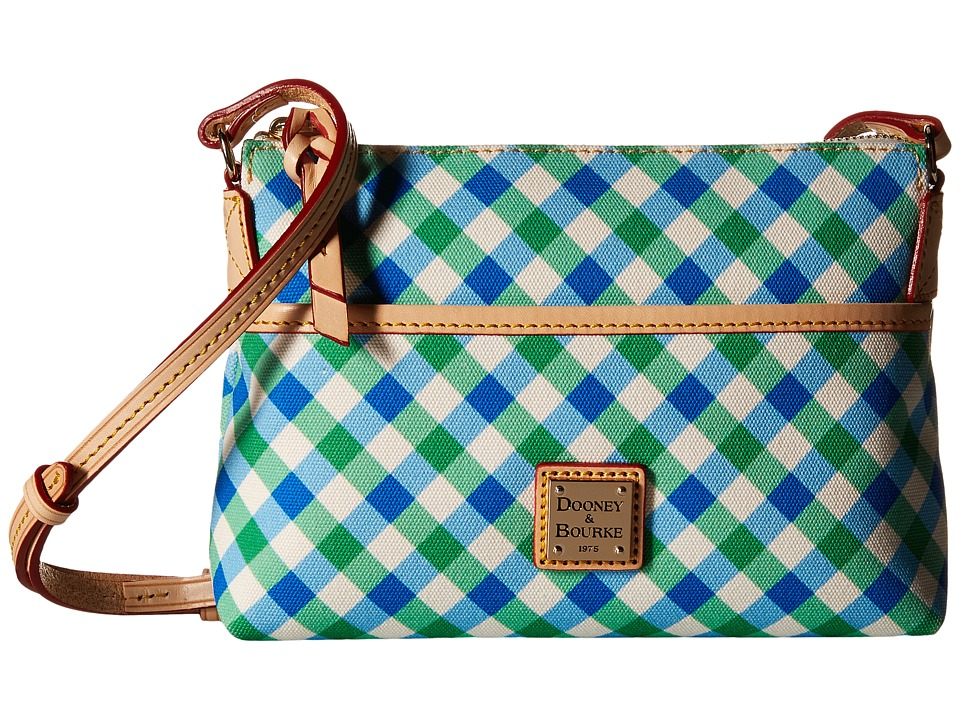 Dooney & Bourke - Elsie Ginger Crossbody (Blue/Green/Natural Trim) Cross Body Handbags