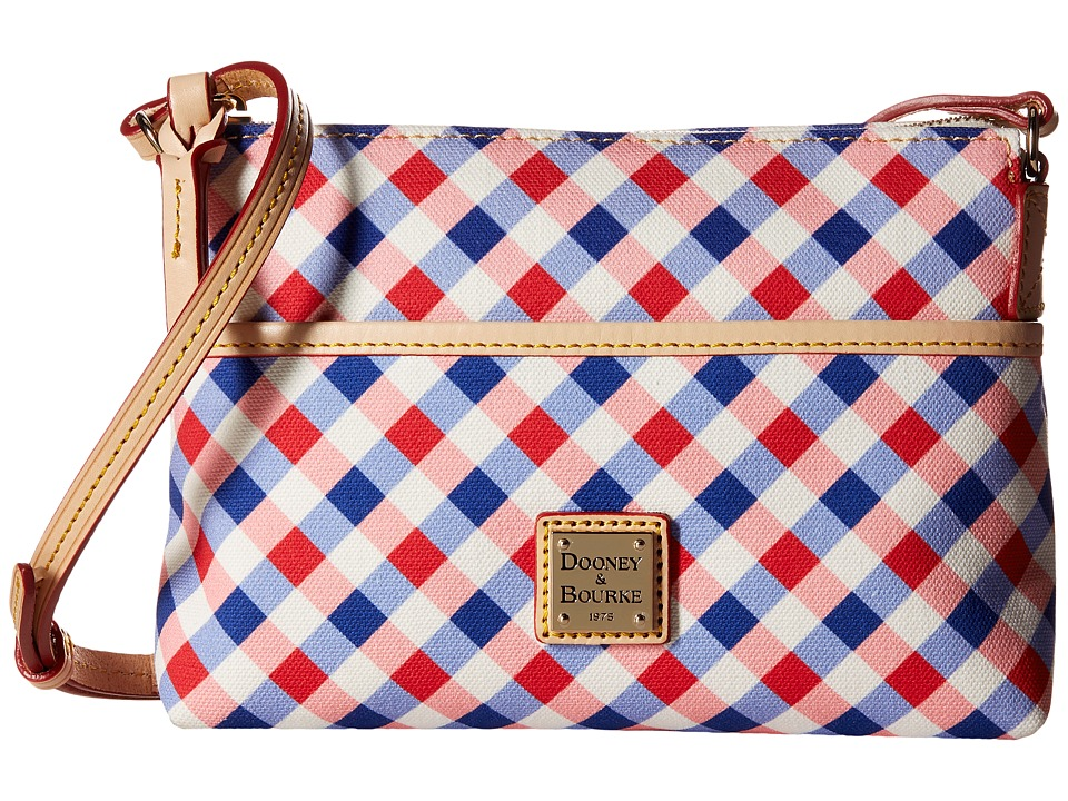 Dooney & Bourke - Elsie Ginger Crossbody (Cherry/Purple/Natural Trim) Cross Body Handbags