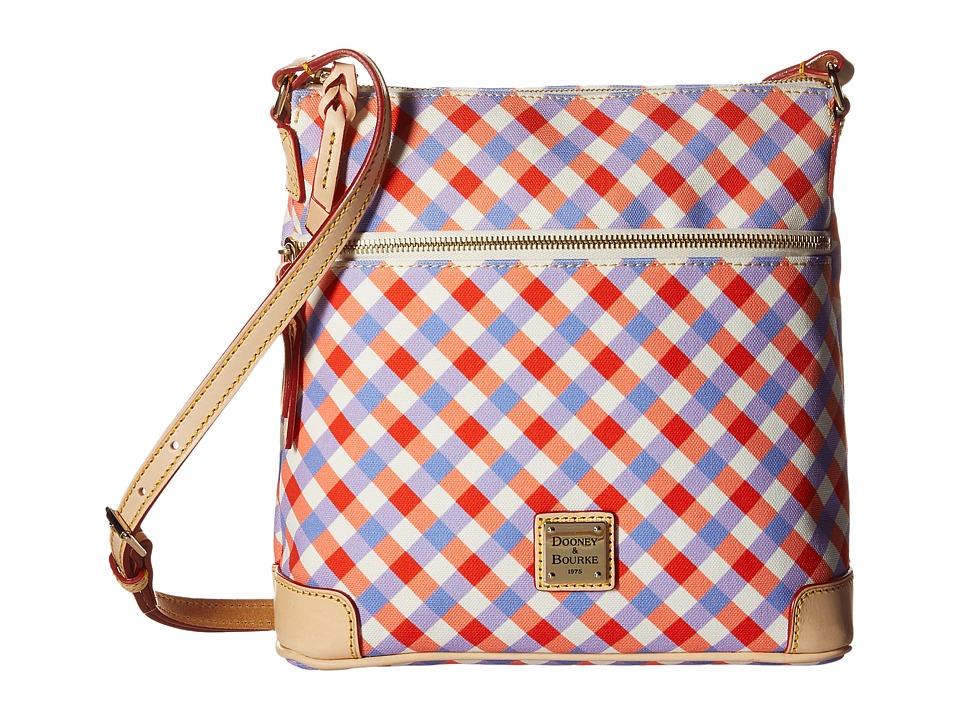 Dooney & Bourke - Elsie Crossbody (Geranium/Lavender/Natural Trim) Cross Body Handbags