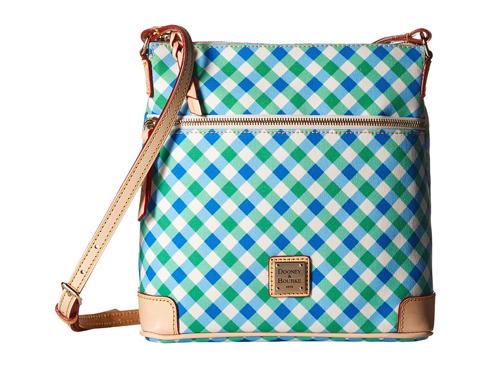 Dooney & Bourke - Elsie Crossbody (Blue/Green/Natural Trim) Cross Body Handbags
