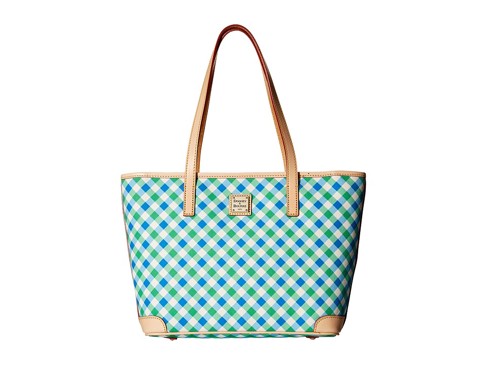 Dooney & Bourke - Elsie Charleston Shopper (Blue/Green/Natural Trim) Handbags