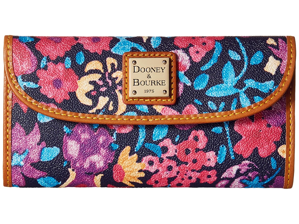 Dooney amp Bourke Marabelle Continental Clutch Black/Natural Trim Clutch Handbags