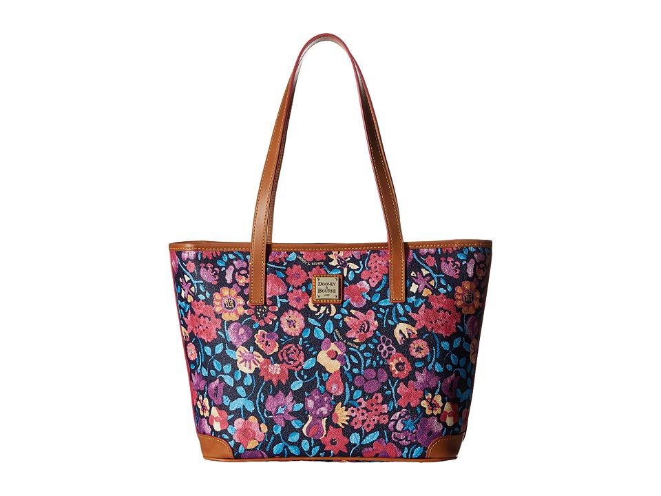 Dooney amp Bourke Marabelle Charleston Shopper Black/Natural Trim Handbags