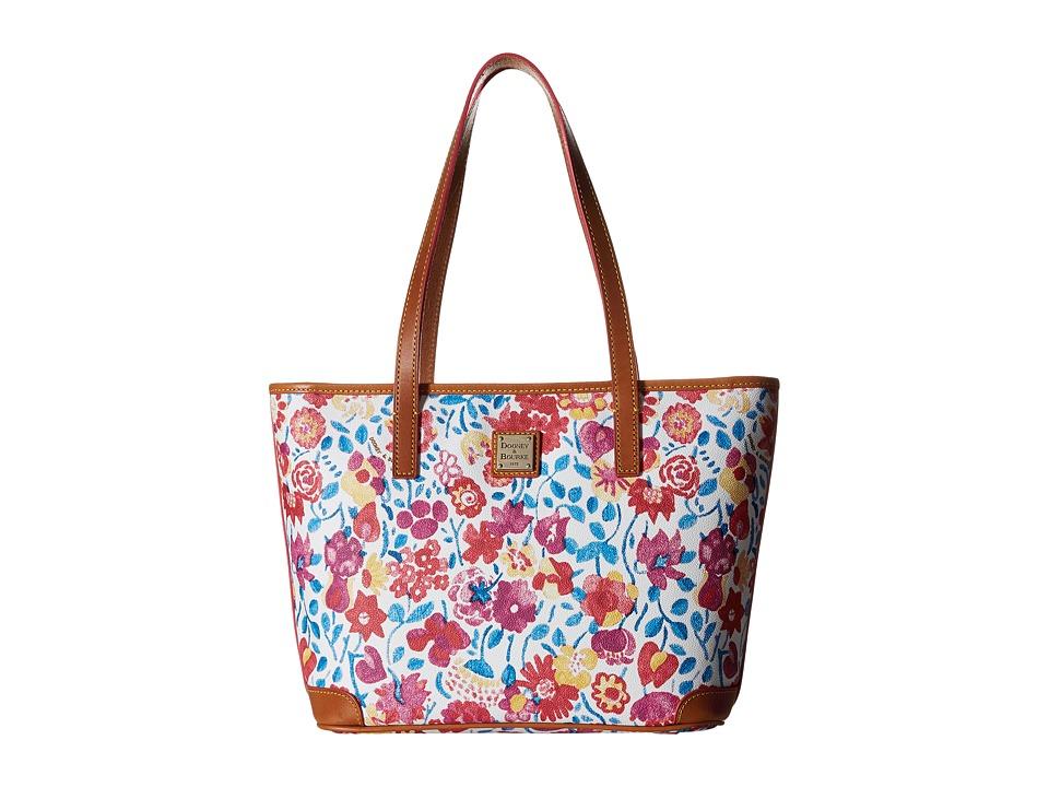 Dooney amp Bourke Marabelle Charleston Shopper White/Natural Trim Handbags