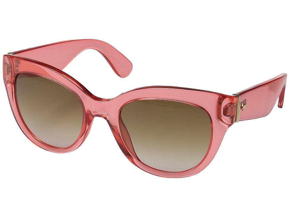1950s Sunglasses & Eyeglasses Frames Kate Spade New York - SharlotteS RedBrownPink Gradient Fashion Sunglasses $180.00 AT vintagedancer.com