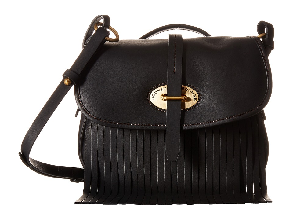 Dooney & Bourke - Lulu Fiona Crossbody (Black/Black Trim) Cross Body Handbags