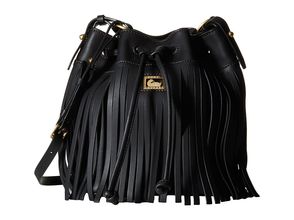 Dooney & Bourke - Lulu Christa Drawstring (Black/Black Trim) Drawstring Handbags