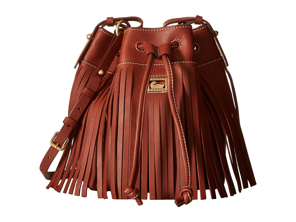 Dooney & Bourke - Lulu Christa Drawstring (Brown/Brown Trim) Drawstring Handbags