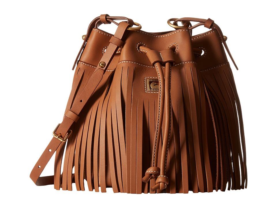 Dooney & Bourke - Lulu Christa Drawstring (Saddle/Saddle Trim) Drawstring Handbags