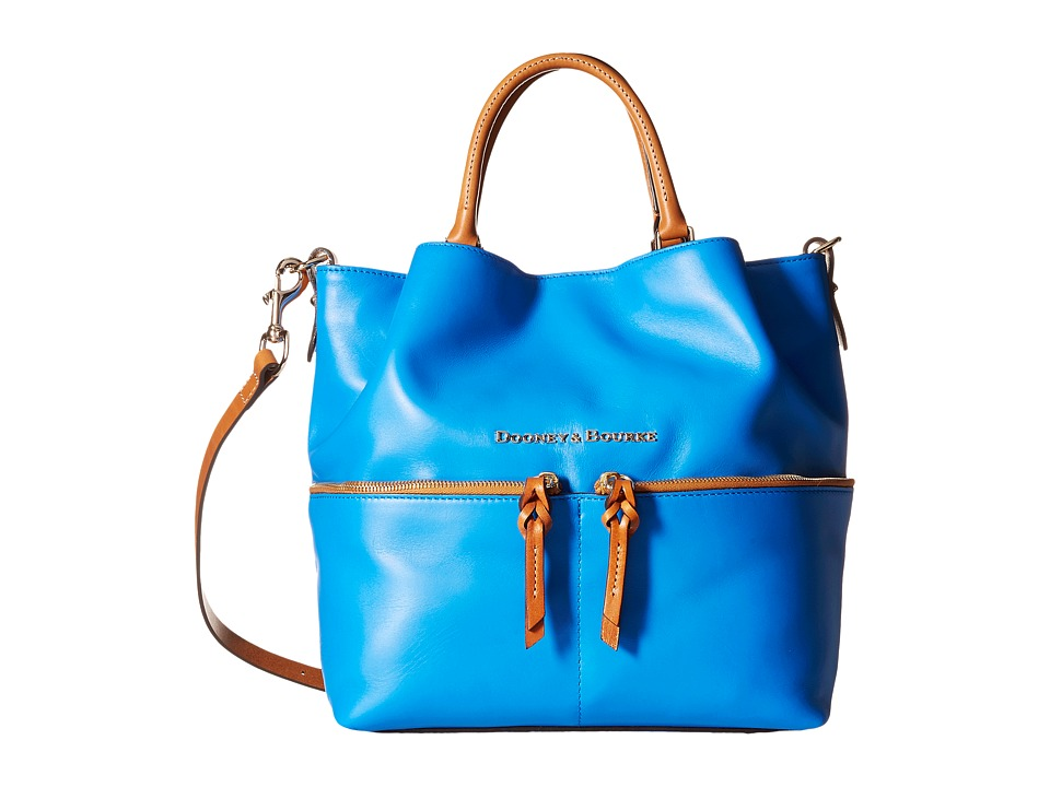 Dooney & Bourke - City Dawson (Ocean/Natural Trim) Satchel Handbags