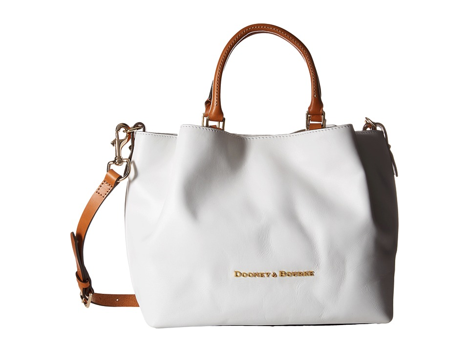 Dooney & Bourke - City Barlow (White/Natural Trim) Handbags