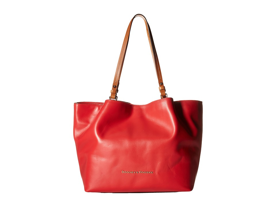 Dooney & Bourke - City Flynn (Geranium/Natural Trim) Tote Handbags