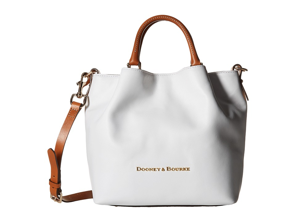 Dooney & Bourke - City Small Barlow (White/Natural Trim) Handbags