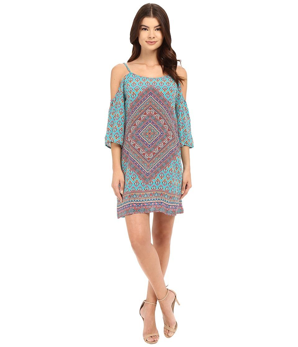Tolani Farah Cold Shoulder Dress Aqua Womens Dress