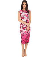 Vince Camuto - Printed Scuba Extended Cap Sleeve Bodycon Dress