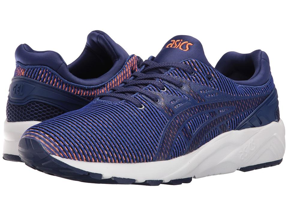 Image of ASICS Tiger - Gel-Kayano Trainer EVO (Blue Print/Orange) Shoes