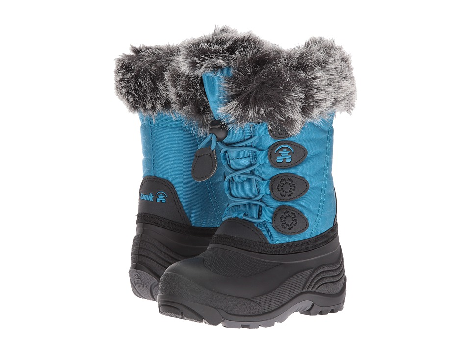 Kamik Kids Snowgypsy (Toddler/Little Kid/Big Kid) (Teal) Kids Shoes