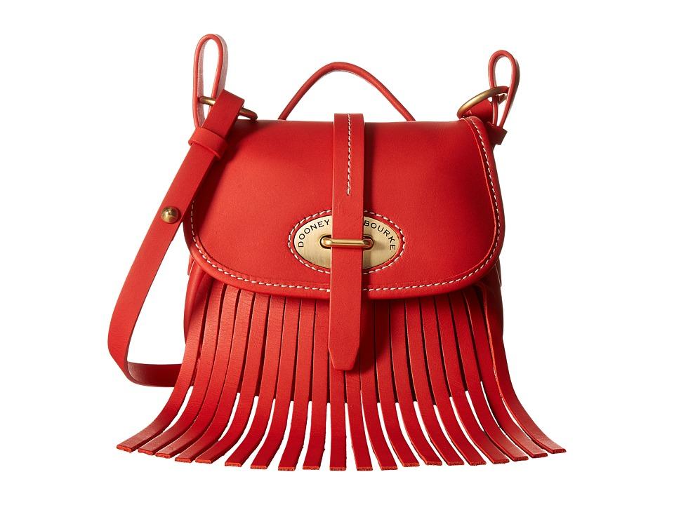 Dooney amp Bourke Lulu Small Fiona Crossbody Red/Red Trim Cross Body Handbags