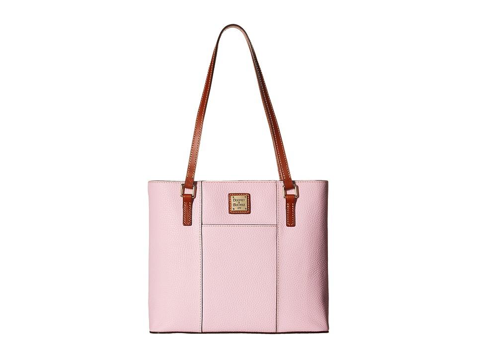 Dooney amp Bourke Pebble Leather New Colors Small Lexington Shopper Baby Pink/Tan Trim Tote Handbags
