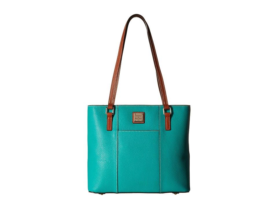 Dooney amp Bourke Pebble Leather New Colors Small Lexington Shopper Spearmint/Tan Trim Tote Handbags