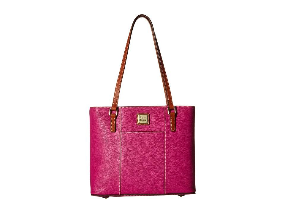 Dooney amp Bourke Pebble Leather New Colors Small Lexington Shopper Magenta/Tan Trim Tote Handbags