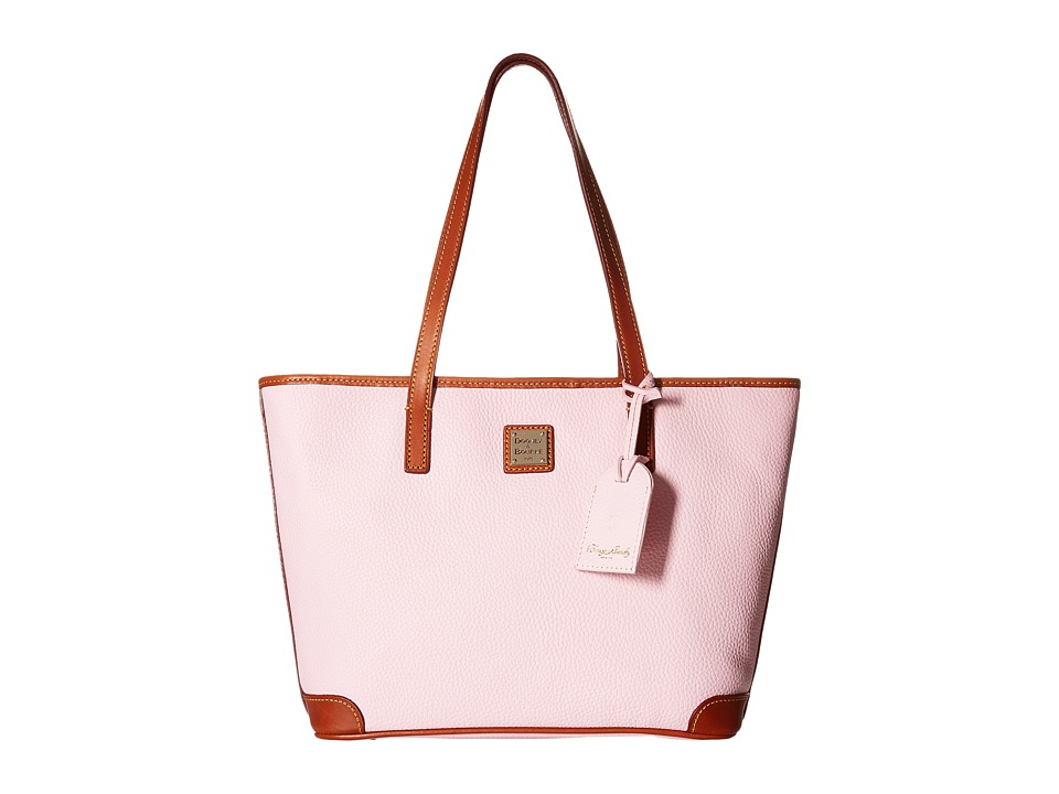 Dooney & Bourke - Charleston Shopper (Baby Pink/Tan Trim) Tote Handbags