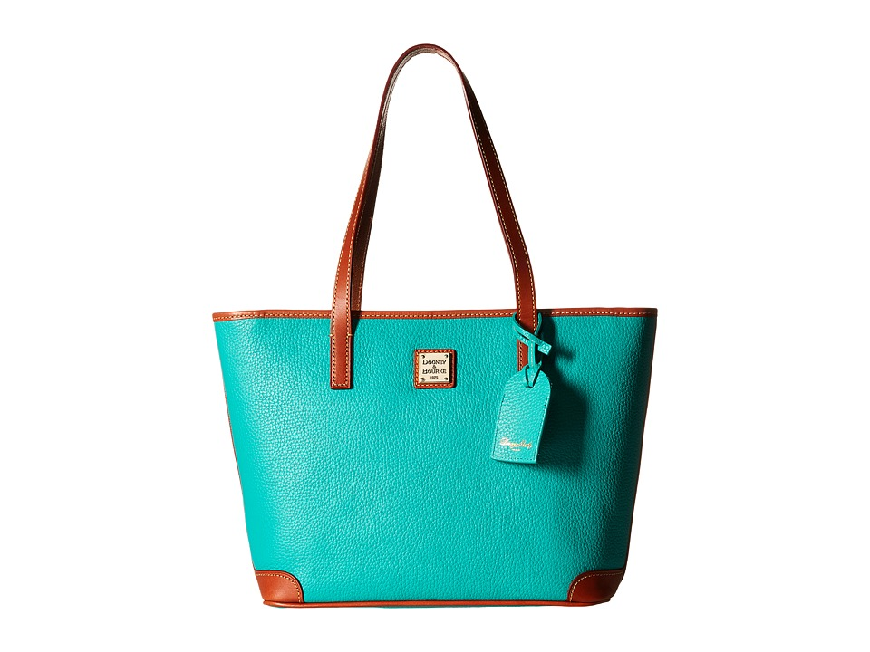 Dooney amp Bourke Charleston Shopper Spearmint/Tan Trim Tote Handbags