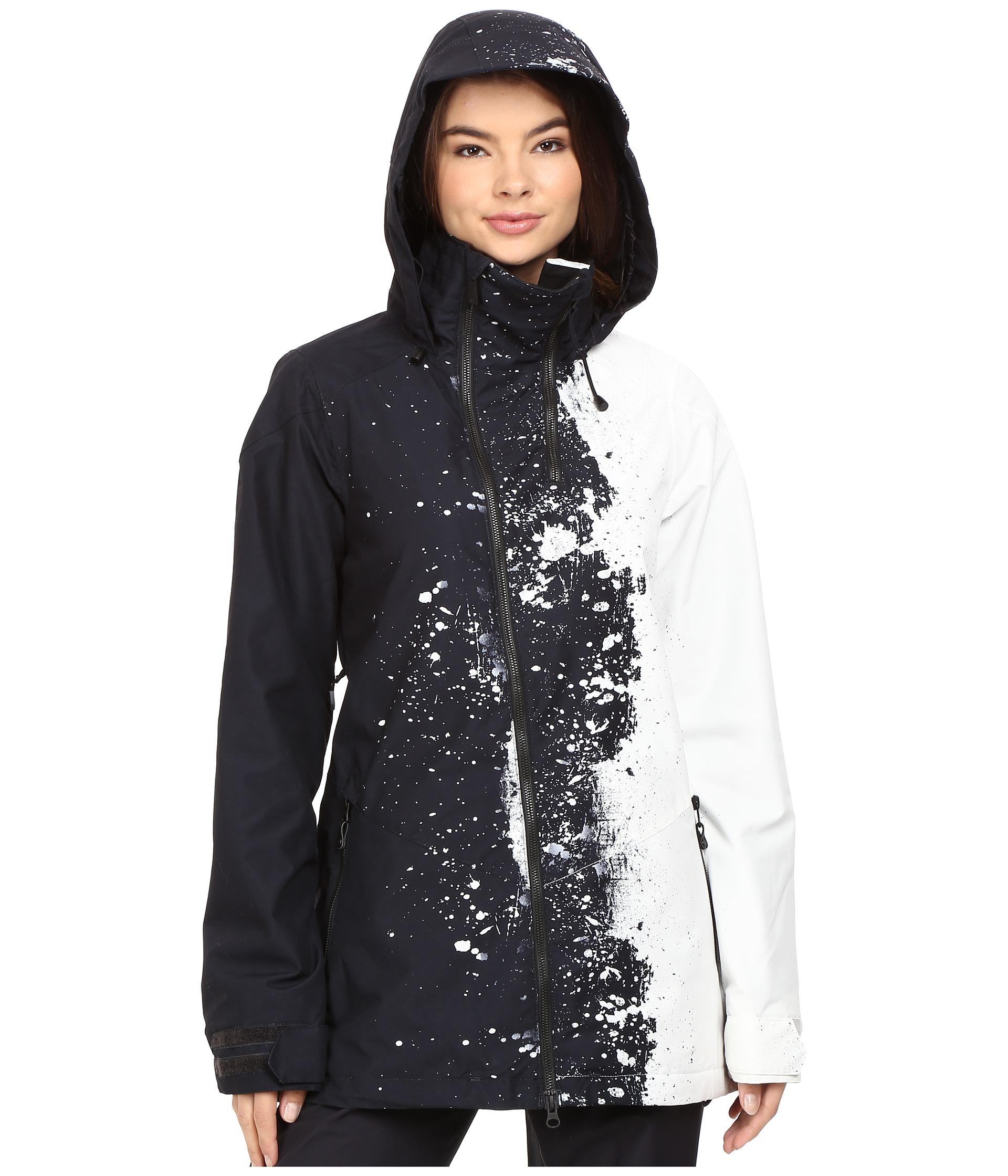 Volcom Snow Bristol Jacket Black White Zappos