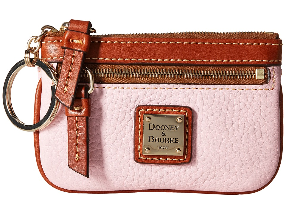 Dooney amp Bourke Pebble Small Coin Case Baby Pink/Tan Trim Coin Purse