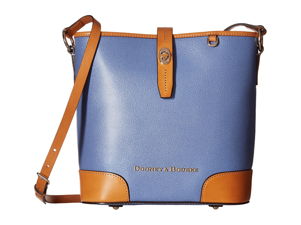 Dooney & Bourke - Claremont Crossbody Bucket (Dusty Blue/Butterscotch Trim) Cross Body Handbags