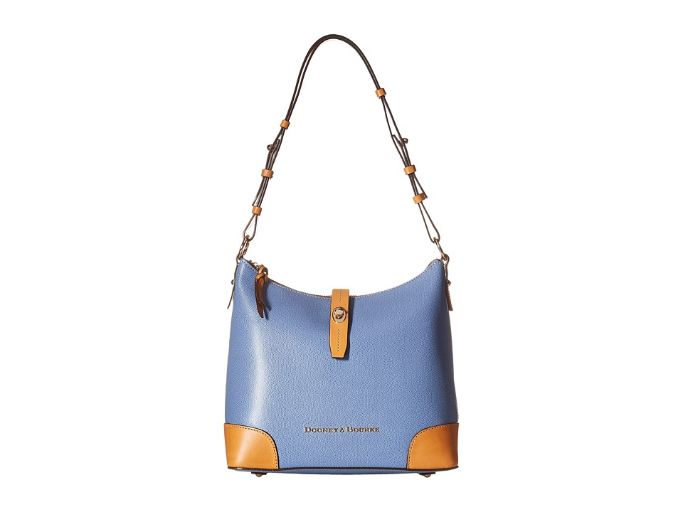Dooney & Bourke - Claremont Hobo (Dusty Blue/Butterscotch Trim) Hobo Handbags