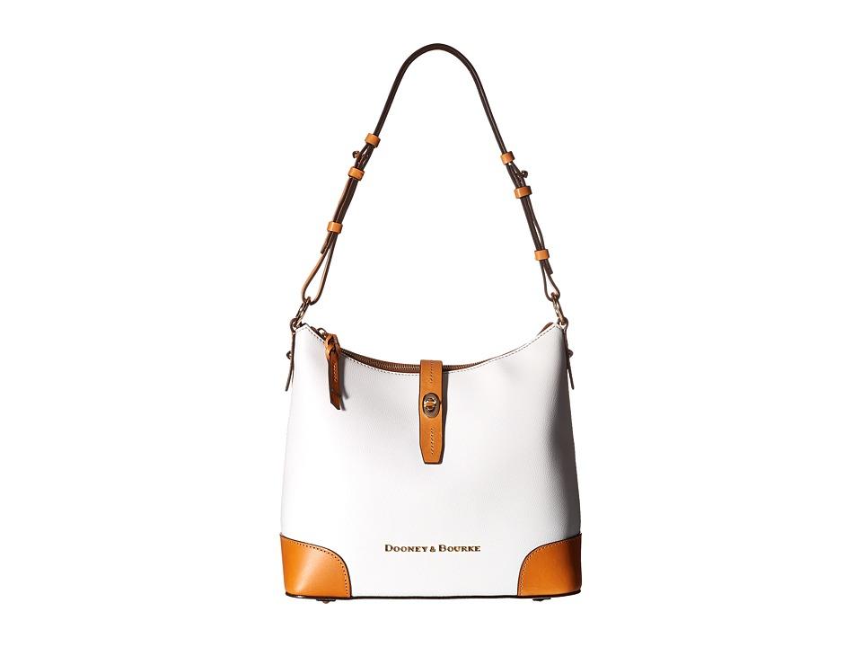 Dooney & Bourke - Claremont Hobo (White/Butterscotch Trim) Hobo Handbags