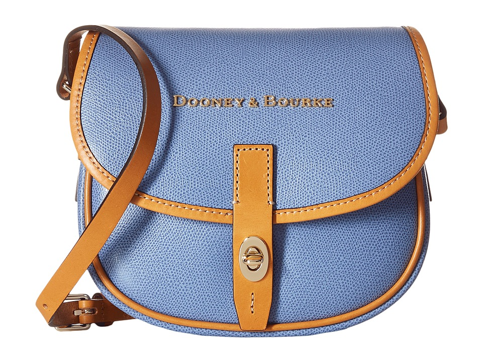 Dooney & Bourke - Claremont Field Bag (Dusty Blue/Butterscotch Trim) Cross Body Handbags
