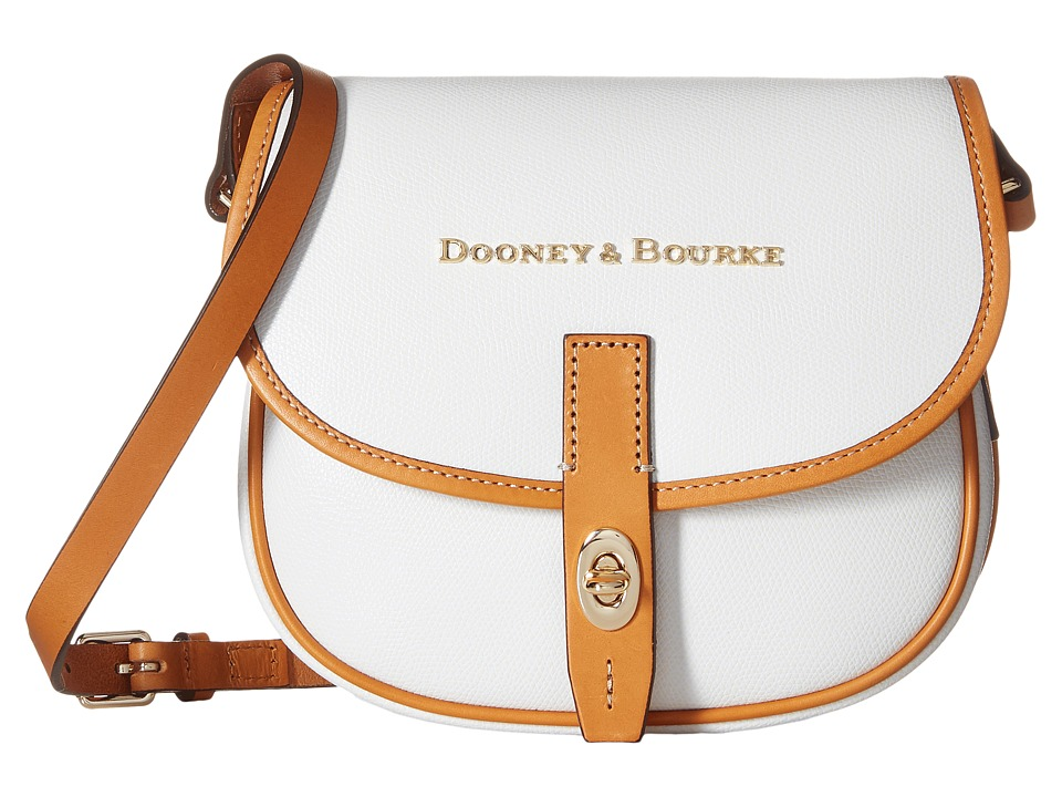 Dooney & Bourke - Claremont Field Bag (White/Butterscotch Trim) Cross Body Handbags