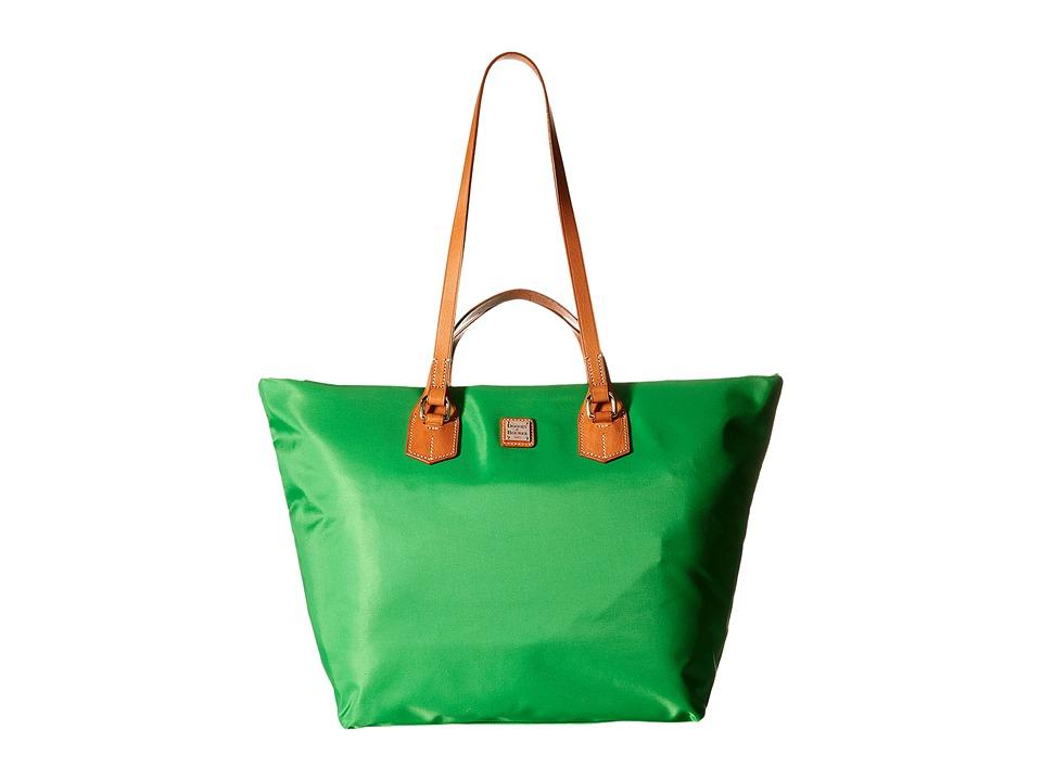 Dooney & Bourke - Windham Extra Large Leighton Tote (Kelly Green/Natural Trim) Tote Handbags