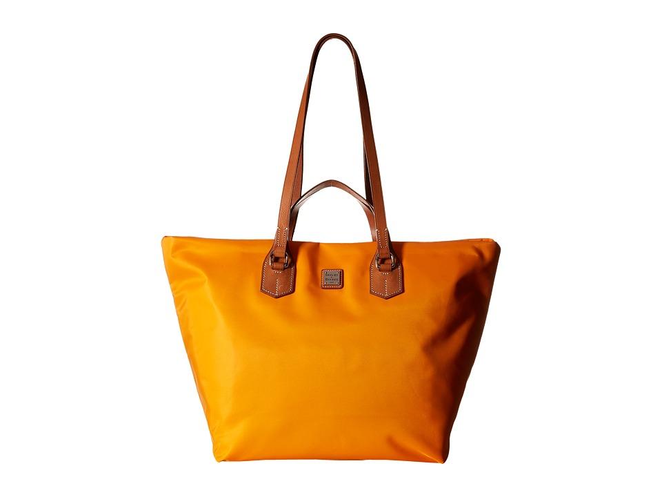 Dooney & Bourke - Windham Extra Large Leighton Tote (Orange/Natural Trim) Tote Handbags