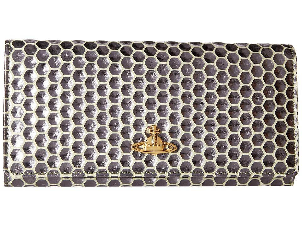 Vivienne Westwood - Long Wallet Honey Comb (Green) Wallet Handbags