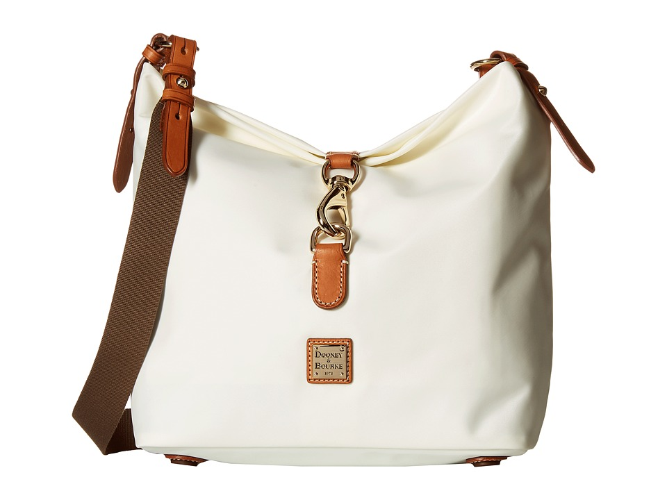 Dooney & Bourke - Windham Annie Satchel (Bone/Natural Trim) Satchel Handbags